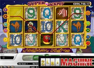 Arabian nights slot machine