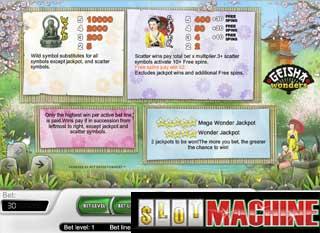 Geisha wonders slot machine