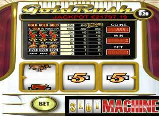 Gold rush slot machine