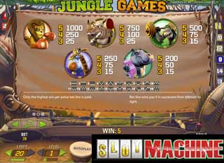 Jungle Games slot machine