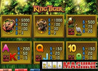 King-Tiger-Slot-machine
