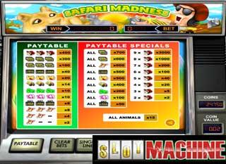 Safari Madness slot machine