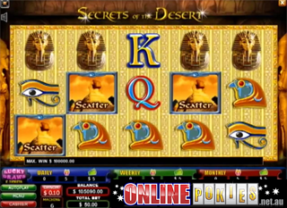 Secrets of the Desert Spielautomaten